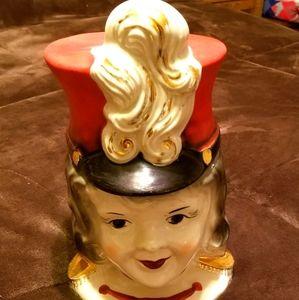 1938 Regal Majorette Gold Trim Cookie Jar